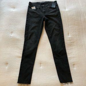Joe's Jeans Black Mid-Rise Ankle Skinny Jeans